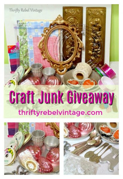 Craft Junk Giveaway January 2018 from Thrifty Rebel Vintage