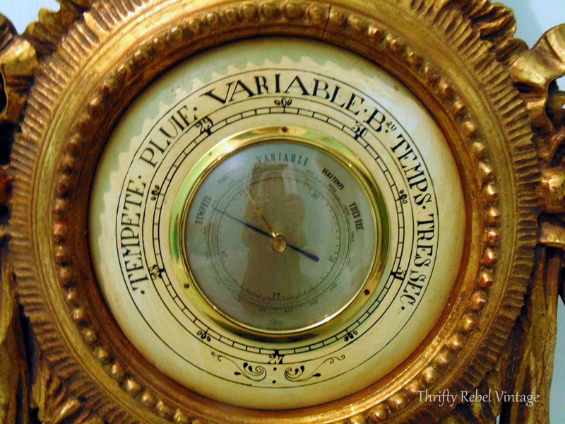 Vintage hand carved barometer Made in Italy 6