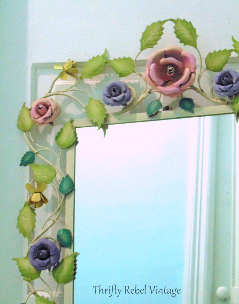 large metal floral framed mirror 5