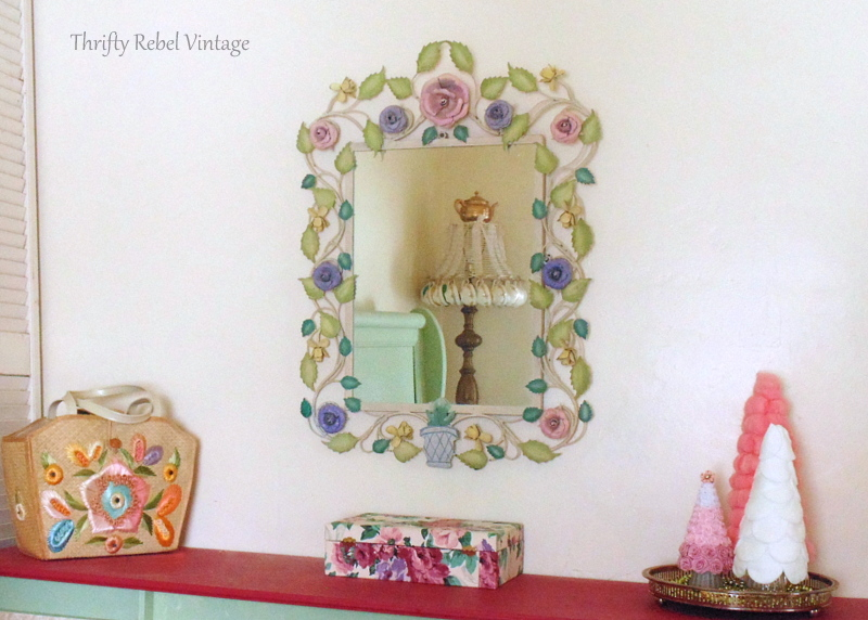 large metal floral framed mirror 9