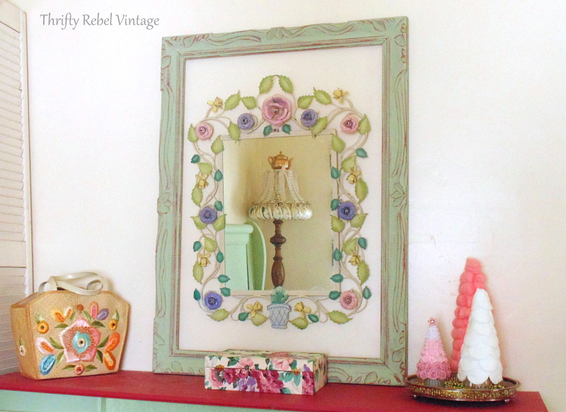 large metal floral framed mirror 91