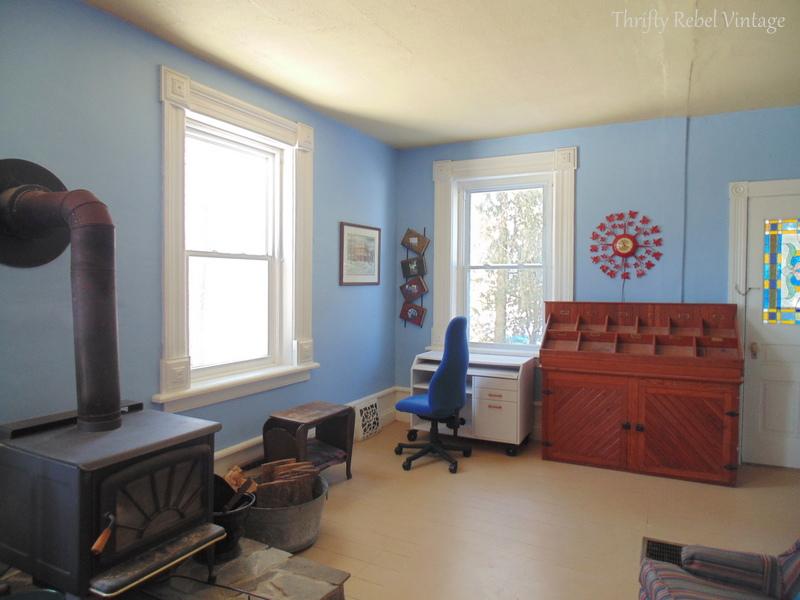 living room blue before 2