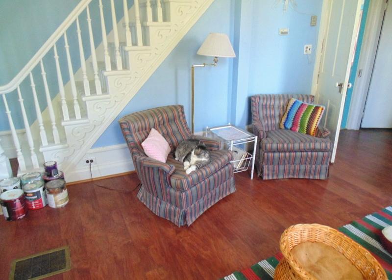 living room floor before
