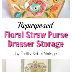 repurposed straw purse organizer for bedroom dresser