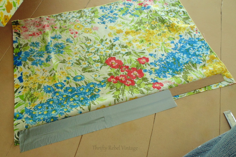 making a no sew skirt of desk opening