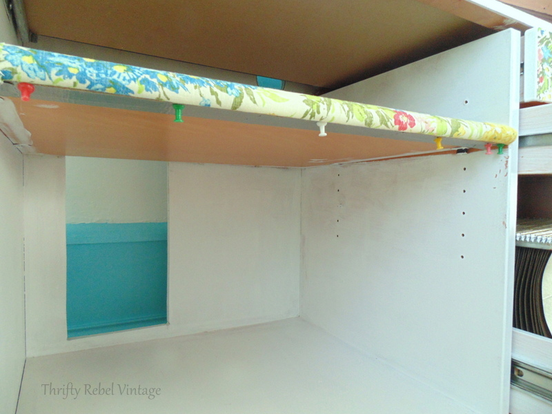attaching a no sew skirt of desk opening