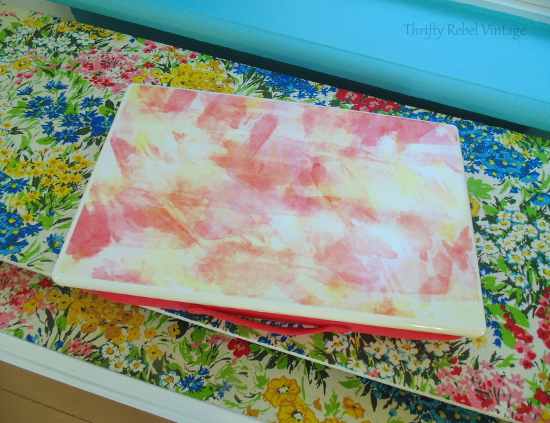 floral fabric decoupaged lap desk