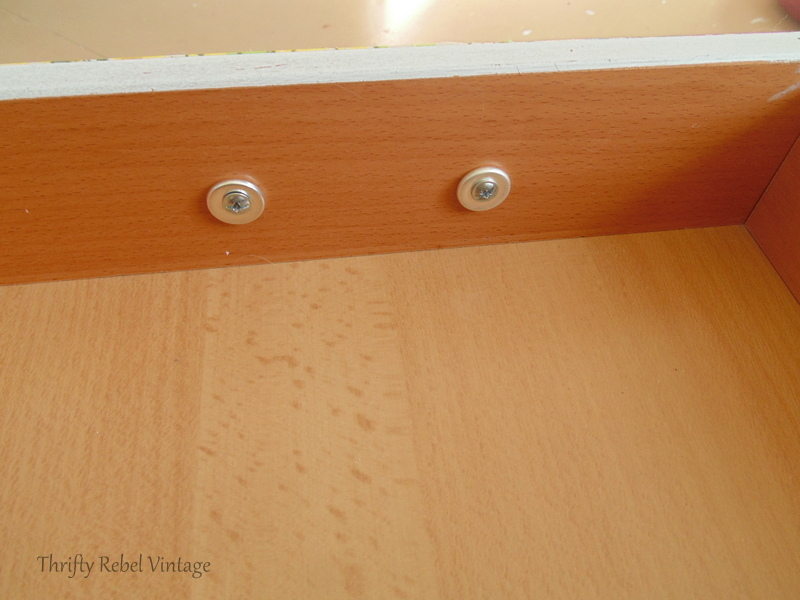 making bolts fit that are too long when attaching new drawer handles to decoupaged desk