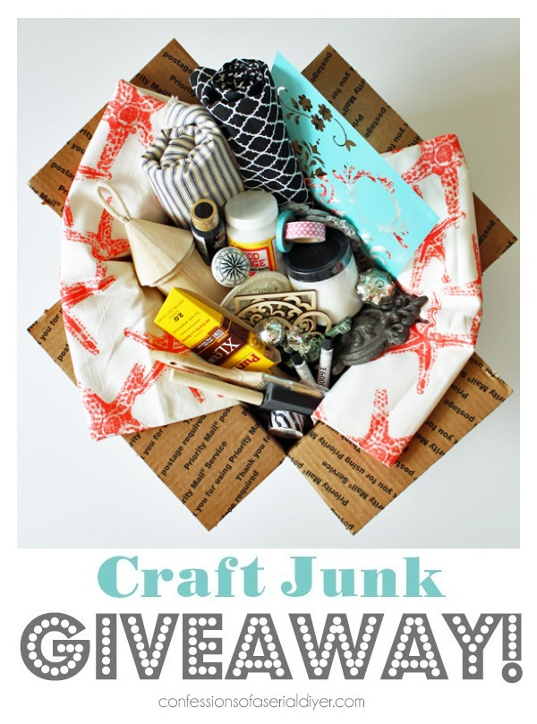 Craft-Junk-Giveaway-April-2018 Confessions of a Serial DIYer