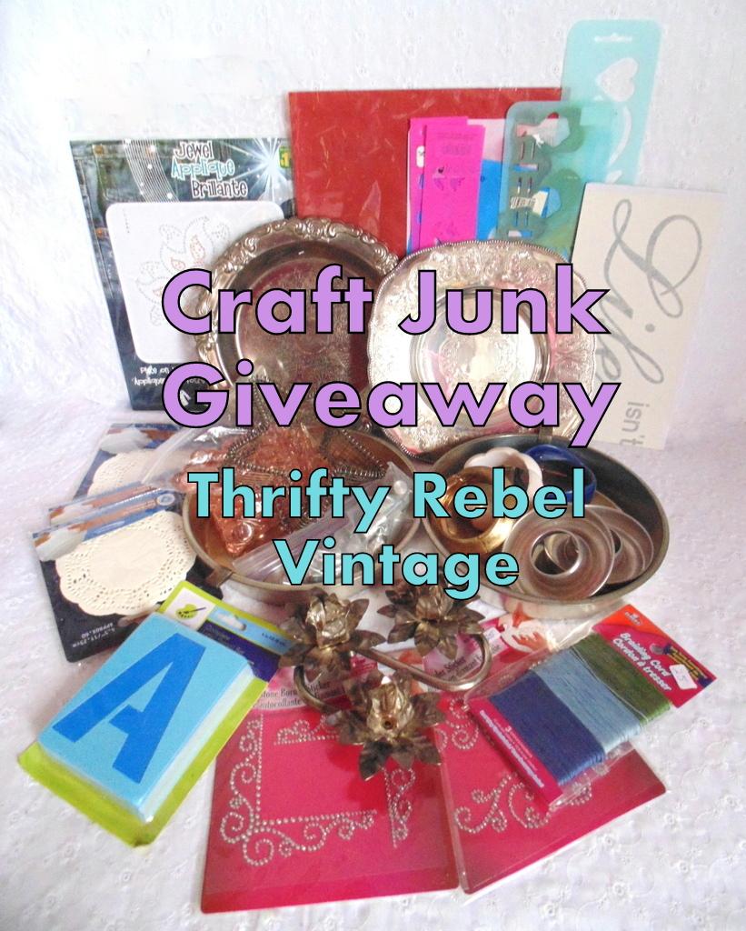 Craft Junk Giveaway Thrifty Rebel Vintage April 2018