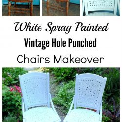 Spray painted vintage chair makeover
