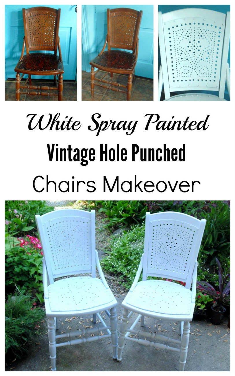 old furniture makeover. Spray Painted Vintage Chair Makeover Old Furniture