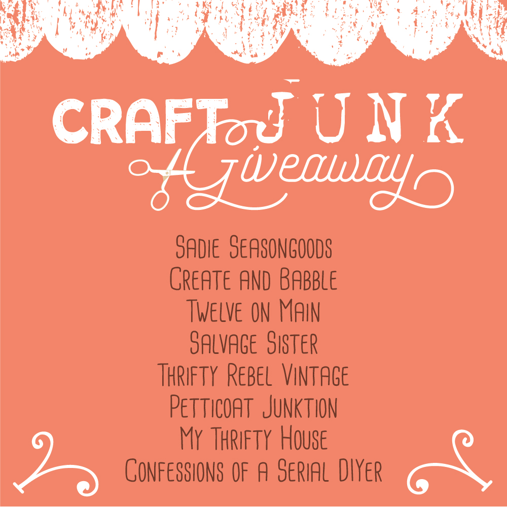 April Craft Junk Giveaway Thrifty Rebel Vintage