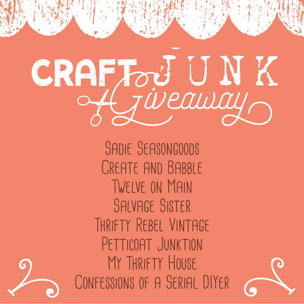 April Craft Junk Giveaway Thrifty Rebel Vintage