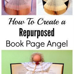 How to make a book page angel