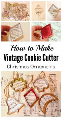 How to make vintage cookie cutter Christmas ornaments