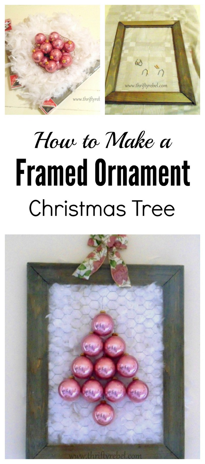 How to make a framed ornament Christmas tree