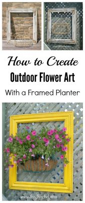 How to make outdoor flower art with a framed planter