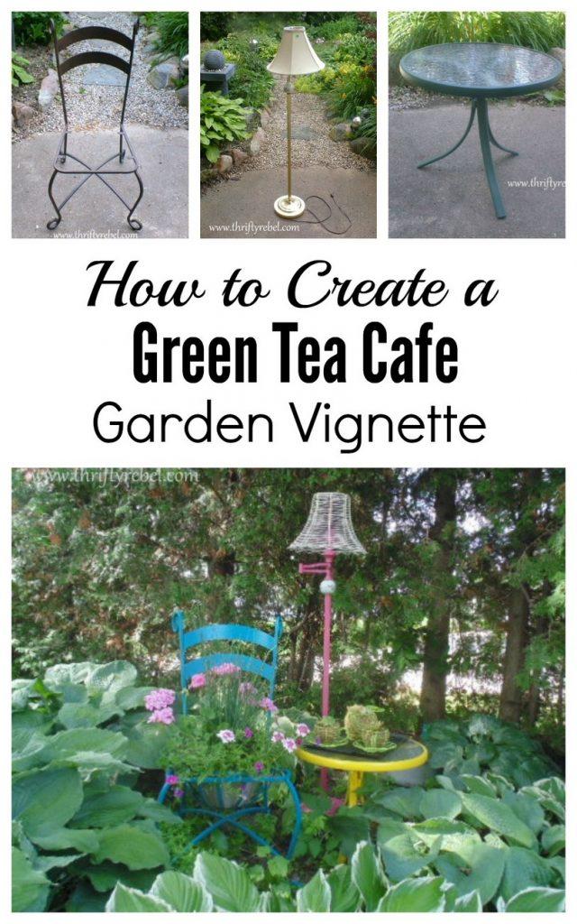 How to create a cafe garden vignette