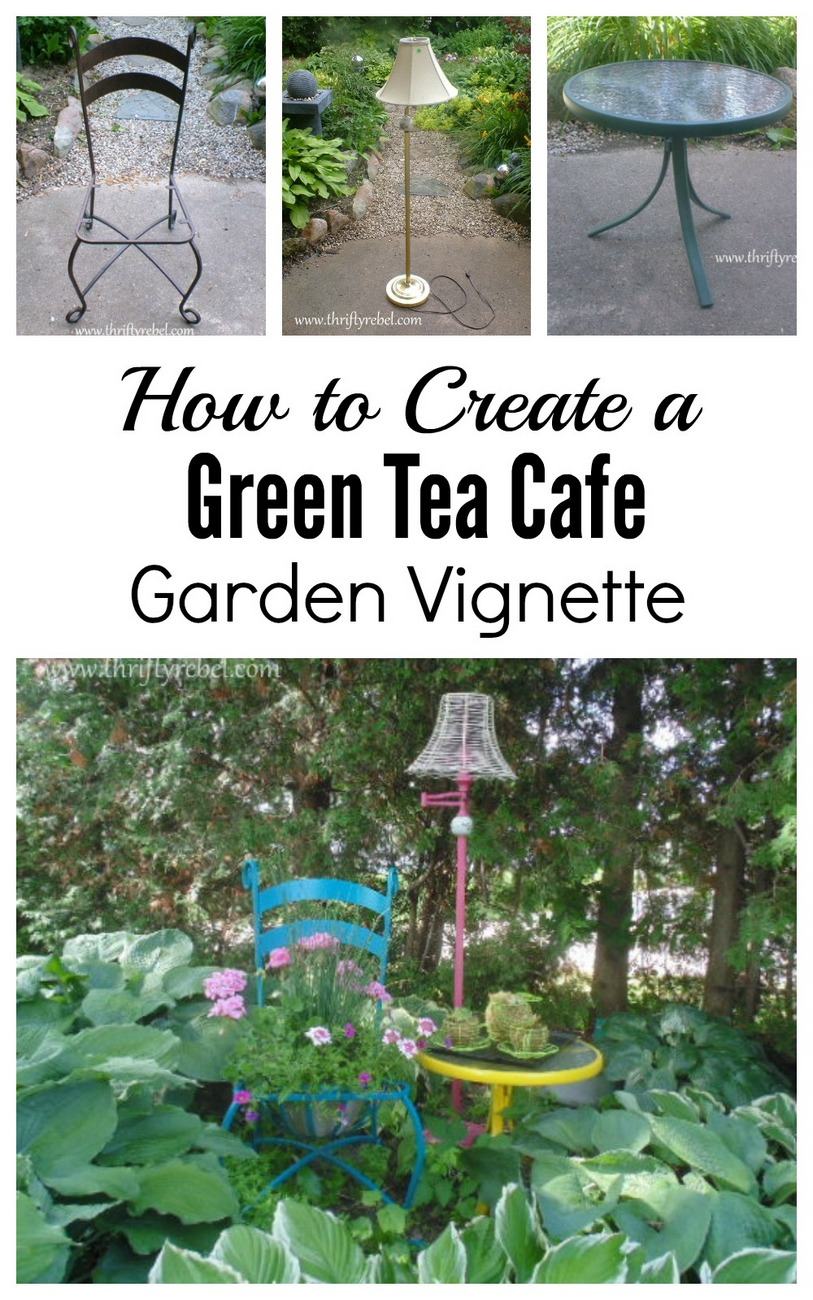How to create a cafe garden vignette