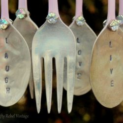 DIY Spray Painted Silverware Wind Chime