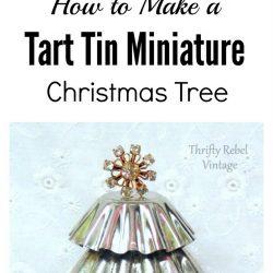 How to make miniature tart tin Christmas trees