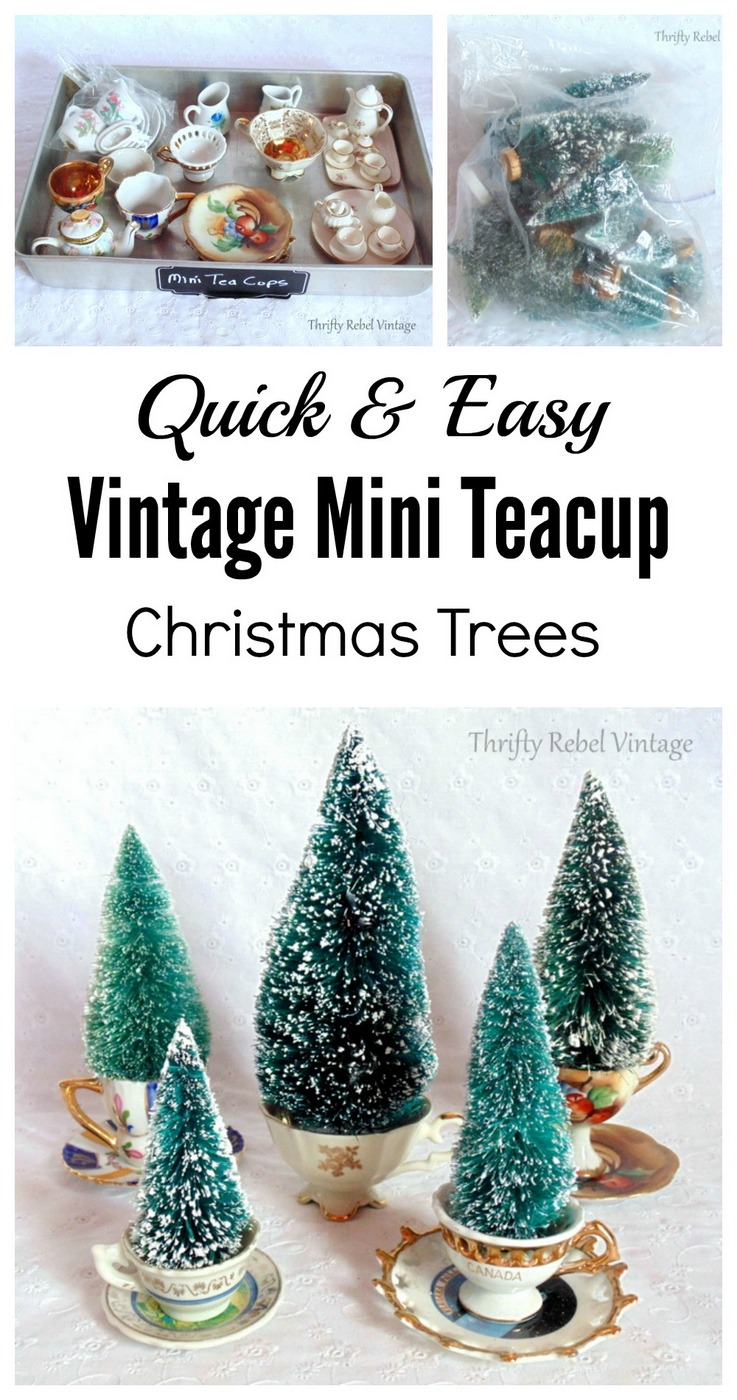 How to make vintage mini teacup Christmas tree