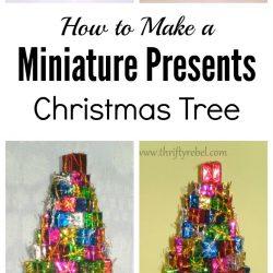 How to make a miniature presents Christmas tree