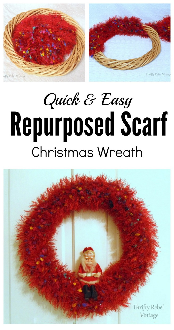 How to make a repurposed scarf Christmas tree