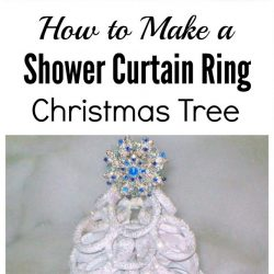 How to make a repurposed shower curtain ring Christmas tree