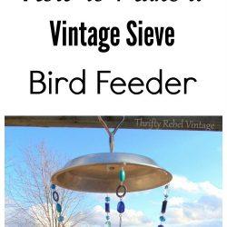 How to make a repurposed sieve bird feeder