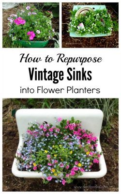 How to repurpose vintage sinks as planters