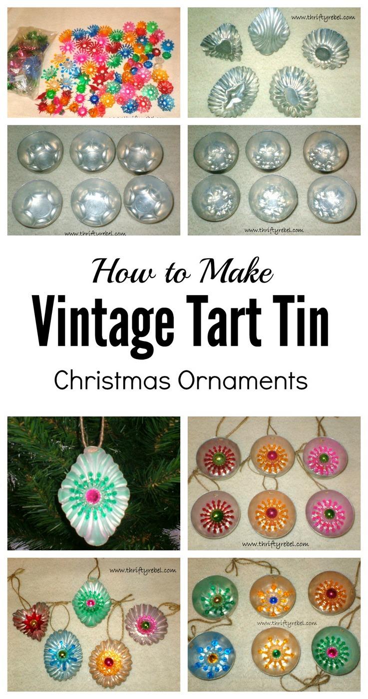 How to make vintage tart tin Christmas ornaments