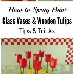 How to spray paint glass vases