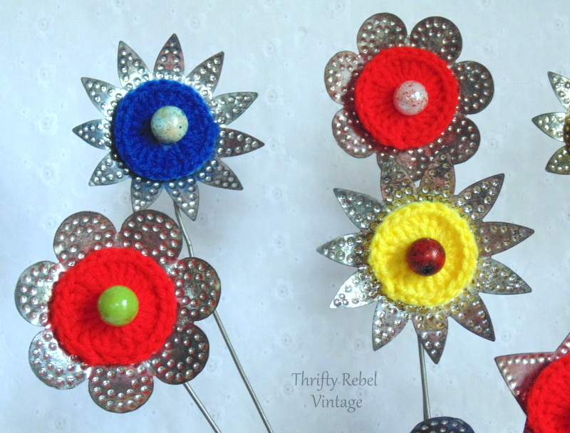 tin light reflector flower bouquet door decor