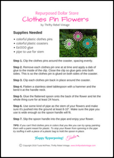 Repurposed Clothes Pin Flowers worksheet small pic new
