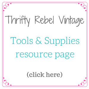 Thrifty Rebel Vintage Tools & Supplies Resource Page