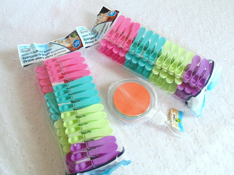 dollar store plastic clothes pins and coasters for diy clothes pin flowers