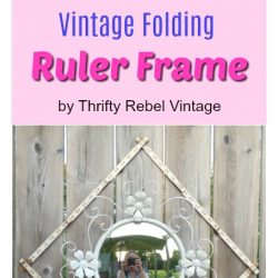 Repurposed Vintage Folding Ruler Frame collage