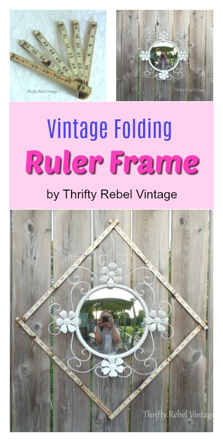 How to repurpose a vintage wooden folding ruler as a frame