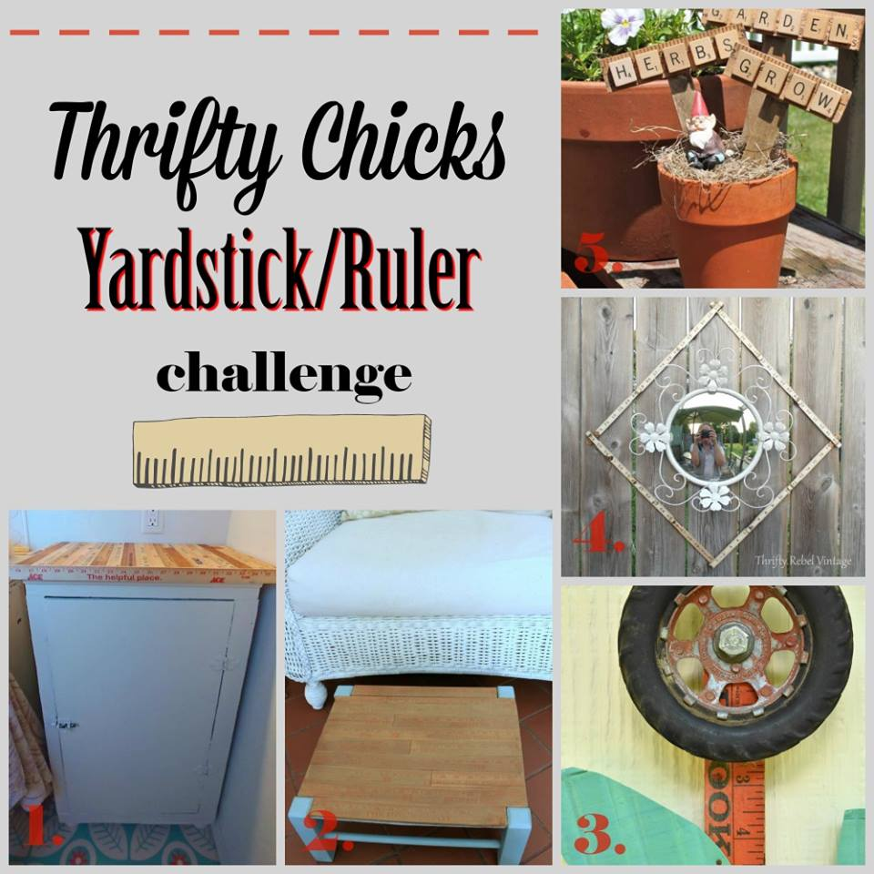 Thrifty Chicks Ruler or Yard Stick Project Challenge July 2018