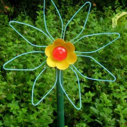 Repurposed Gutter Leaf Strainer Flowers