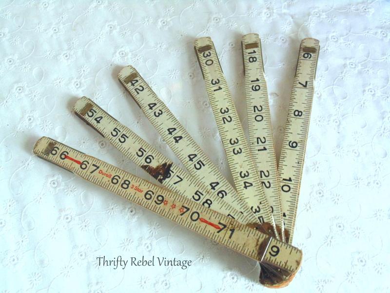 vintage folding ruler frame