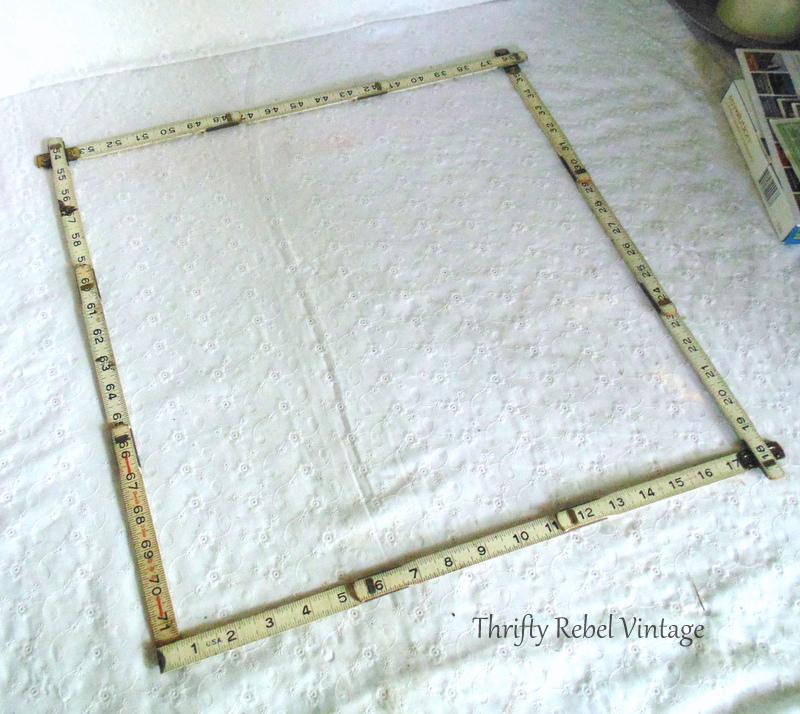 vintage folding ruler frame 2