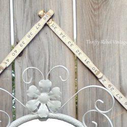 Repurposed Vintage Folding Ruler Frame