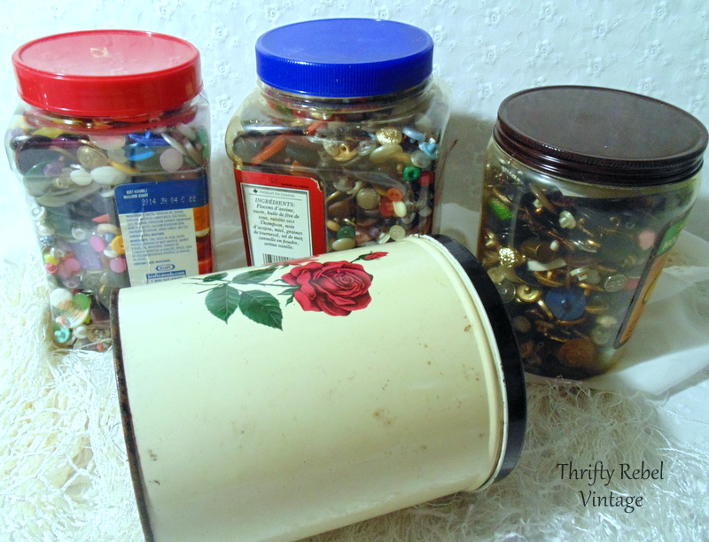 Thrifted buttons for crafting and repurposing projects