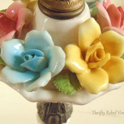 Fabulous Finds Friday: Vintage Bone China Roses Lamp