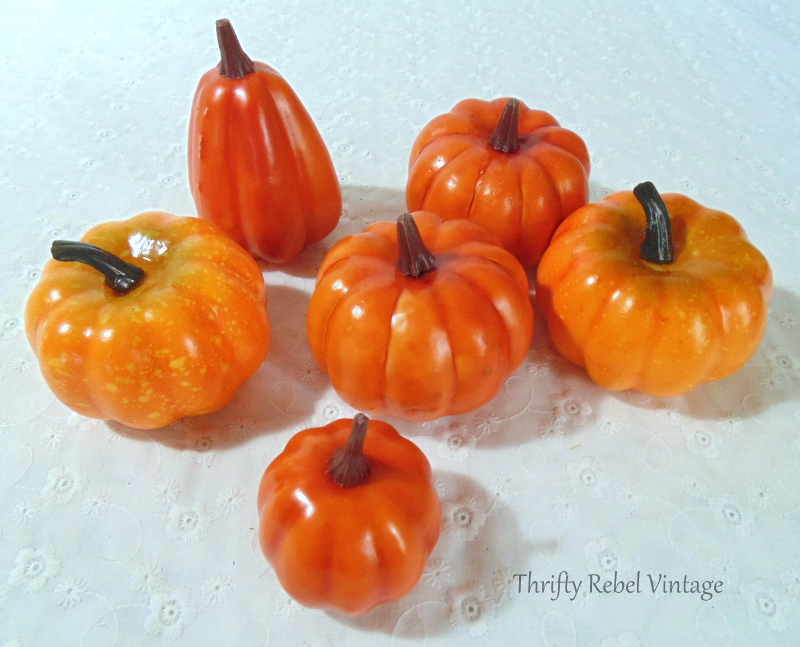 orange dollar store pumpkins for lace and ribbons pumpkins makeover