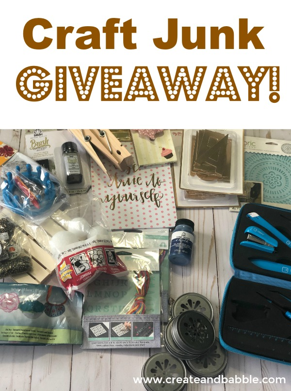 CRAFT-JUNK-GIVEAWAY Create & Babble