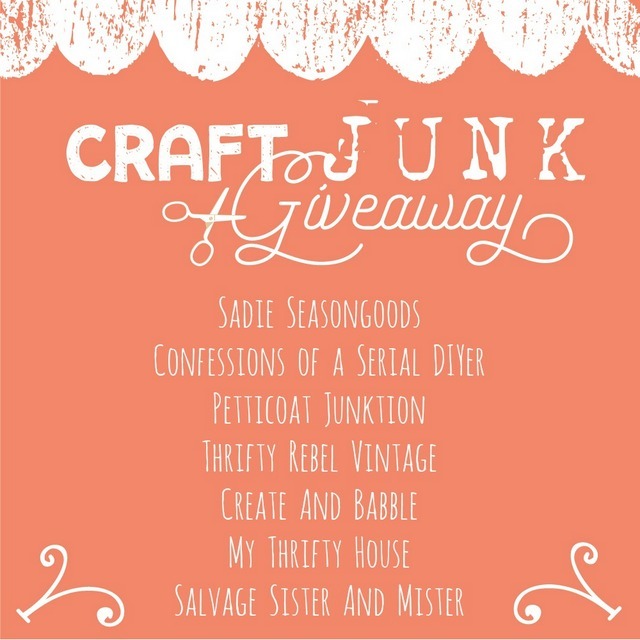 Craft Junk Giveaway with vintage treasures for upcycling and craft supplies by Thrifty Rebel Vintage